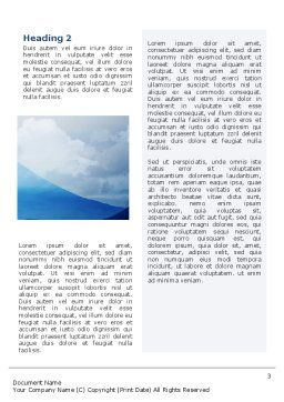 Fujiyama Word Template, Second Inner Page, 02226, Nature & Environment — PoweredTemplate.com