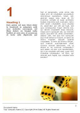Probability Word Template, First Inner Page, 02228, Business Concepts — PoweredTemplate.com
