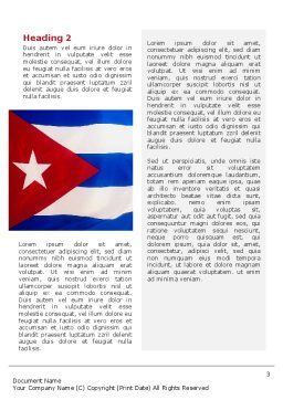 Flag of Cuba Word Template, Second Inner Page, 02229, Flags/International — PoweredTemplate.com