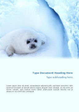Fur-Seal Word Template, Cover Page, 02230, Agriculture and Animals — PoweredTemplate.com