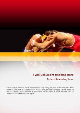 Combat Word Template, Cover Page, 02234, Sports — PoweredTemplate.com