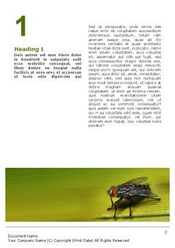 Sitting Fly Word Template, First Inner Page, 02235, Nature & Environment — PoweredTemplate.com