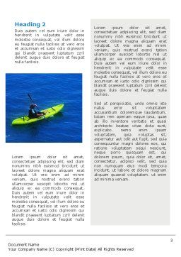 Kayaking Word Template, Second Inner Page, 02239, Sports — PoweredTemplate.com