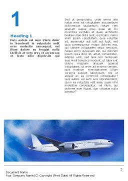 Airship Word Template, First Inner Page, 02241, Cars/Transportation — PoweredTemplate.com