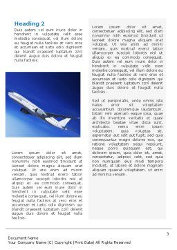 Airship Word Template, Second Inner Page, 02241, Cars/Transportation — PoweredTemplate.com