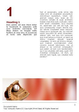 School Baseball Word Template, First Inner Page, 02242, Sports — PoweredTemplate.com