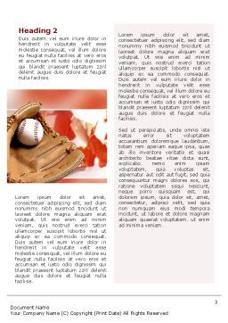 School Baseball Word Template, Second Inner Page, 02242, Sports — PoweredTemplate.com