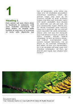 Chameleon Lizard Word Template First Inner Page