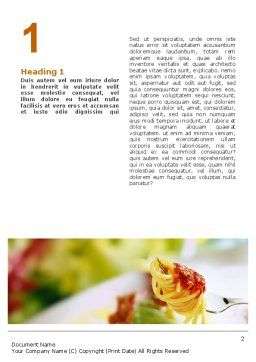 Italian Food Word Template, First Inner Page, 02244, Food & Beverage — PoweredTemplate.com