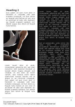 Male Gymnastics Word Template, Second Inner Page, 02245, Sports — PoweredTemplate.com
