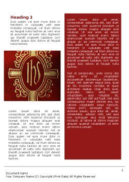 Holy Cross Word Template, Second Inner Page, 02246, Religious/Spiritual — PoweredTemplate.com