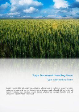 Grain Word Template, Cover Page, 02248, Agriculture and Animals — PoweredTemplate.com