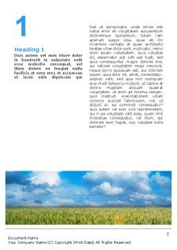 Grain Word Template, First Inner Page, 02248, Agriculture and Animals — PoweredTemplate.com