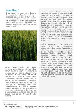 Grain Word Template, Second Inner Page, 02248, Agriculture and Animals — PoweredTemplate.com