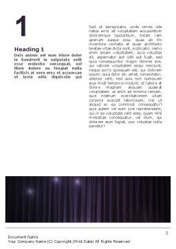 Show Business Word Template First Inner Page