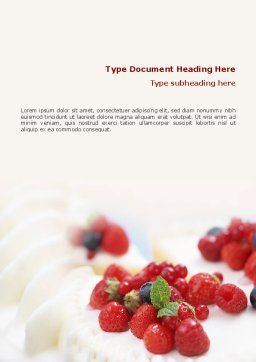 Berry Word Template, Cover Page, 02250, Food & Beverage — PoweredTemplate.com