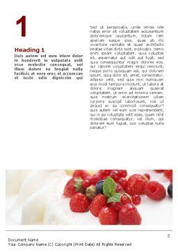 Berry Word Template, First Inner Page, 02250, Food & Beverage — PoweredTemplate.com