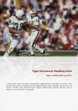 American Football Game Word Template, Cover Page, 02252, Sports — PoweredTemplate.com