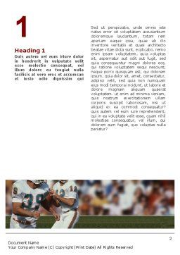 American Football Game Word Template, First Inner Page, 02252, Sports — PoweredTemplate.com