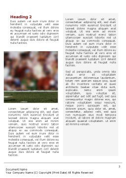 American Football Game Word Template, Second Inner Page, 02252, Sports — PoweredTemplate.com