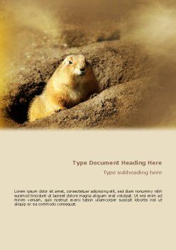 Marmot Word Template, Cover Page, 02254, Agriculture and Animals — PoweredTemplate.com