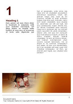 Ice Hockey Goalkeeper Word Template, First Inner Page, 02255, Sports — PoweredTemplate.com