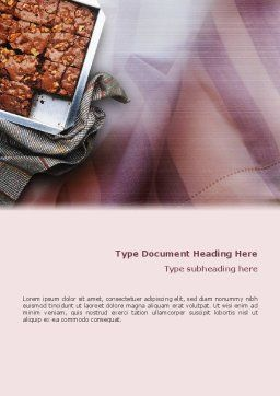 Pie In Baking Tray Word Template, Cover Page, 02256, Food & Beverage — PoweredTemplate.com