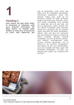 Pie In Baking Tray Word Template, First Inner Page, 02256, Food & Beverage — PoweredTemplate.com