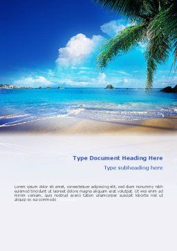 Vacation In A Blue Lagoon Word Template, Cover Page, 02257, Nature & Environment — PoweredTemplate.com