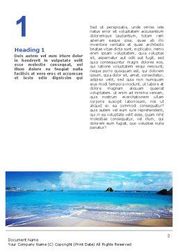 Vacation In A Blue Lagoon Word Template, First Inner Page, 02257, Nature & Environment — PoweredTemplate.com