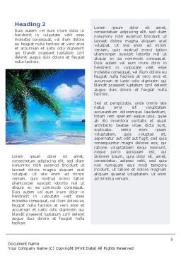Vacation In A Blue Lagoon Word Template, Second Inner Page, 02257, Nature & Environment — PoweredTemplate.com