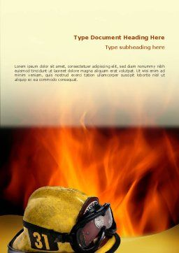 Fire Extinguishing Word Template, Cover Page, 02265, Careers/Industry — PoweredTemplate.com
