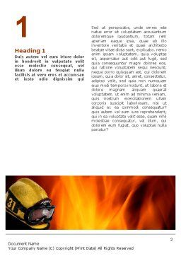 Fire Extinguishing Word Template, First Inner Page, 02265, Careers/Industry — PoweredTemplate.com