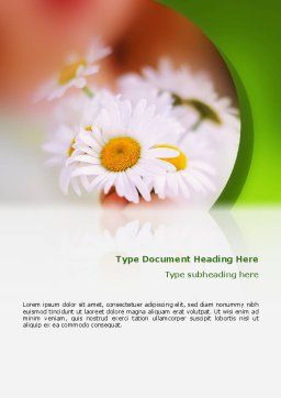 Daisy Word Template, Cover Page, 02268, Nature & Environment — PoweredTemplate.com