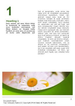 Daisy Word Template, First Inner Page, 02268, Nature & Environment — PoweredTemplate.com