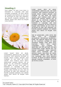 Daisy Word Template, Second Inner Page, 02268, Nature & Environment — PoweredTemplate.com