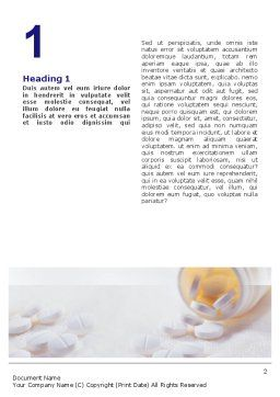 Bottle Of Tablets Word Template, First Inner Page, 02269, Medical — PoweredTemplate.com
