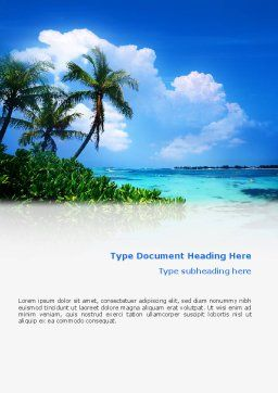 Exotic Island Word Template, Cover Page, 02272, Nature & Environment — PoweredTemplate.com