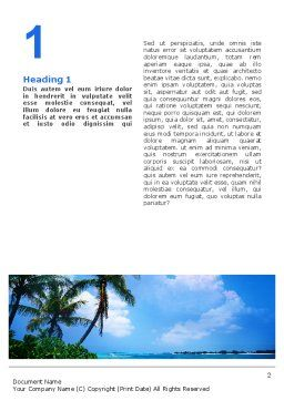Exotic Island Word Template, First Inner Page, 02272, Nature & Environment — PoweredTemplate.com