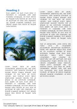 Exotic Island Word Template, Second Inner Page, 02272, Nature & Environment — PoweredTemplate.com