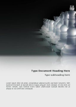 Chess Troops Ready To Fight Word Template, Cover Page, 02273, Business — PoweredTemplate.com