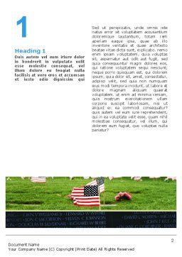 Free American Flag In Memorial Day Word Template, First Inner Page, 02281, Holiday/Special Occasion — PoweredTemplate.com