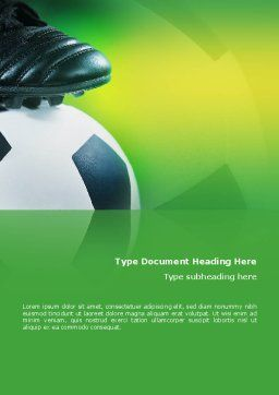 Football And Football Boots Word Template, Cover Page, 02282, Sports — PoweredTemplate.com