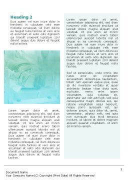 Reanimation Word Template, Second Inner Page, 02288, Medical — PoweredTemplate.com