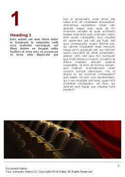 Cinema Hall Word Template First Inner Page