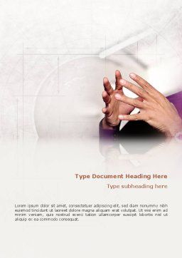 Hands Word Template, Cover Page, 02292, Consulting — PoweredTemplate.com