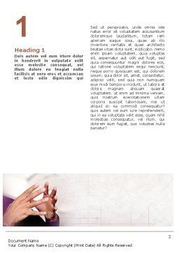 Hands Word Template, First Inner Page, 02292, Consulting — PoweredTemplate.com