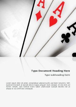 Playing Cards Word Template, Cover Page, 02295, Careers/Industry — PoweredTemplate.com