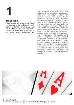Playing Cards Word Template, First Inner Page, 02295, Careers/Industry — PoweredTemplate.com