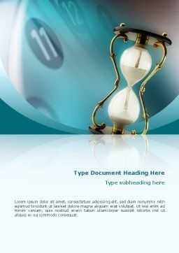 Passing Time Word Template, Cover Page, 02296, Consulting — PoweredTemplate.com